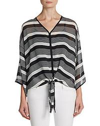 Horizontal striped long sleeve blouse original 10025941