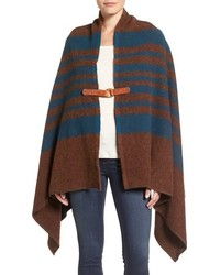 Horizontal striped poncho original 10214839