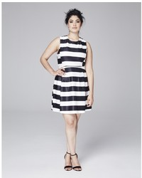 Horizontal striped skater dress original 1425671