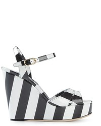Horizontal striped wedge sandals original 9799406