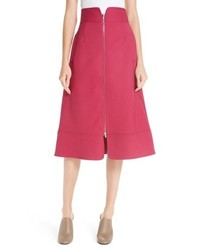 Sea Zip Front A Line Skirt