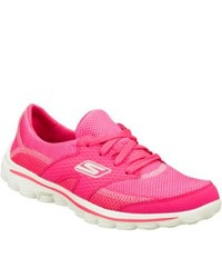 Skechers Gowalk 2 Stance Hot Pink Walking Shoes