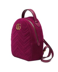 568b6120474 Gucci Gg Marmont Velvet Backpack, $1,659 | farfetch.com | Lookastic.com