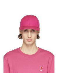 AMI Alexandre Mattiussi Pink Logo Cap