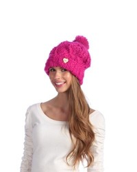 CTR Chaos Thermal Regualtion Chaos Pink Chunky Knit Pom Beanie