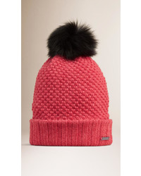 Fur pom pom beanie medium 390721