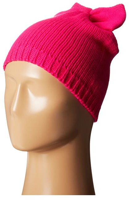 ... Betsey Johnson Solid Bow Beanie Hat ... a085b12d325