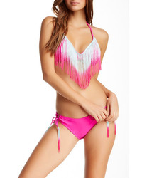 The Bikini Lab Fringe Adjustable Full Hipster Bottom