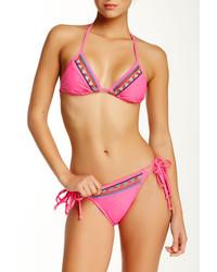 The Bikini Lab Hands Deco Triangle Bikini Top