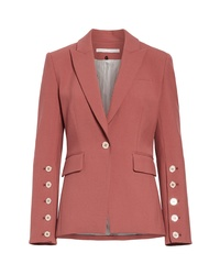 Veronica Beard Fogg Button Sleeve Dickey Jacket