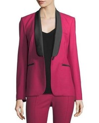 Veronica Beard Keaton Single Button Shawl Lapel Tuxedo Blazer