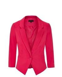 New Look Bright Pink Slim Fit Single Button Blazer