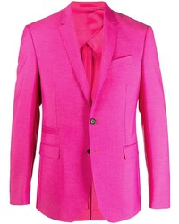 Versace Notched Lapel Single Breasted Blazer