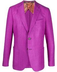 Etro Paisley Lined Single Breasted Blazer
