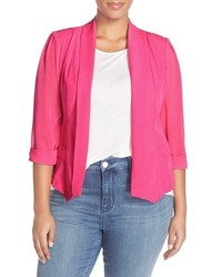 City Chic Plus Size Drapey Mixed Media Blazer