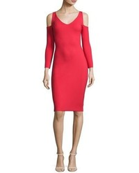 La Petite Robe di Chiara Boni Addison Cold Shoulder Bodycon Cocktail Dress