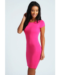 Women's Hot Pink Bodycon Dresses by Boohoo | Women's Fashion