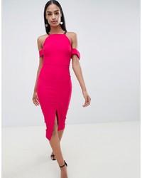 Vesper Cold Shoulder Dress With Front Split