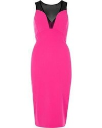 River Island Pink Mesh Panel Bodycon Dress