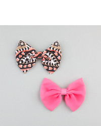 2 piece chiffon bow hair clips medium 115856