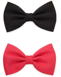 Forever 21 Woven Bow Hair Clip Set