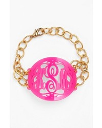 Moon and Lola Annabel Large Oval Personalized Monogram Bracelet