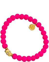Blee Inara Italian Gummy Stretch Skull Charm Bracelet