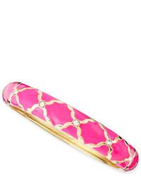 Sequin Medium Lattice Enamel Bangle Neon Pink