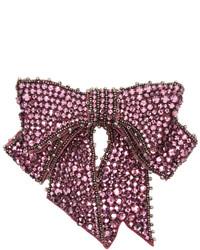 Gucci Pink Crystal Bow Brooch