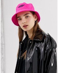 ASOS DESIGN Fluro Bucket Hat With Motif