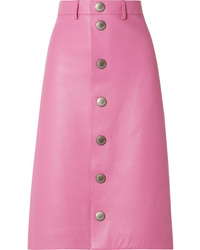 Hot Pink Button Skirt