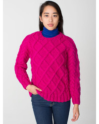 Hot Pink Cable Sweaters for Women | Women's Fashion