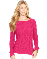 Women's Hot Pink Cable Sweaters by Lauren Ralph Lauren | Women's ...