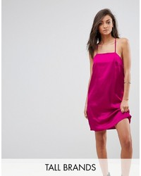 Fashion Union Tall Cami Slip Dress With Double Straps In Satin
