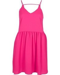 River Island Pink Drop Hem Cami Slip Dress
