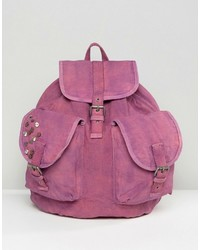 Hot Pink Canvas Backpack