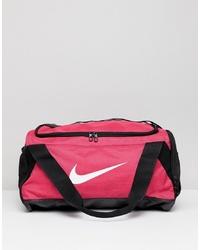 Nike Pink Swoosh Logo Duffle Bag