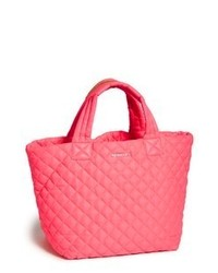 M z wallace small metro tote neon pink medium 64982