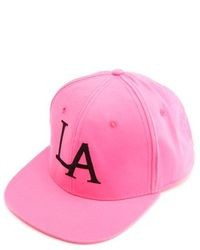 Charlotte Russe La Embroidered Snapback Hat