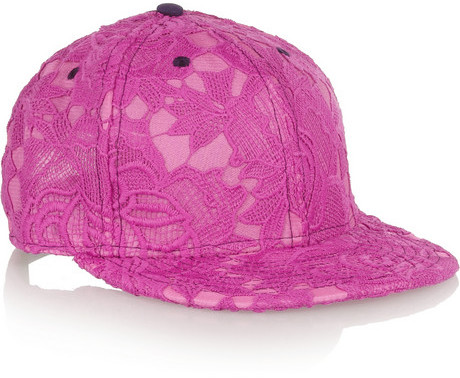 House of Holland New Era Lace Appliqud Voile Baseball Cap
