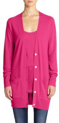 Saks Fifth Avenue Collection Cashmere Long Cardigan | Where to buy ...