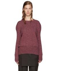 Yang Li Pink Wool Reverse Cardigan