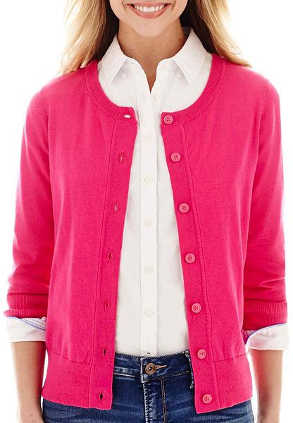 Dark Pink Cardigan Sweater Baggage Clothing