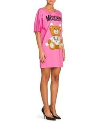 Moschino Bear Logo T Shirt Dress