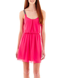 jcpenney By And By Byby Sleeveless Solid Chiffon Braided Strap Dress