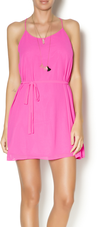 Zebra Hot Pink Dress