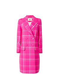 Fendi Double Breasted Check Coat