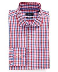 BOSS Gordon Ww Regular Fit Easy Iron Check Dress Shirt