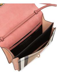 ... Burberry Macken Small Leather House Check Crossbody Bag Peony Rose ... 8c416de55c285