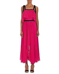Pleated chiffon maxi dress medium 6860816